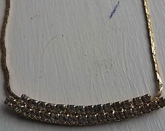 VINTAGE synthetic diamonds necklace 1980s