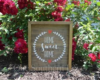 Home SWEET Home Framed Decor