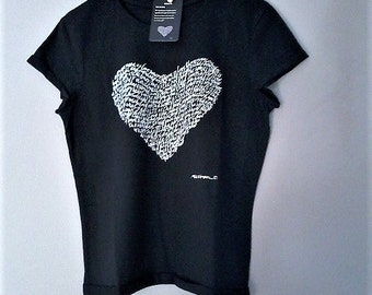 S. Valentine for her t-shirt heart letters-heart. Romantic gift for her