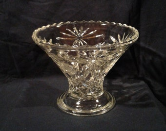 Vintage Anchor Hocking Prescut Flower Basket Vase