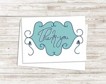 Thank You Card - Business Thank You - Wedding Thank You - Thank You Note Card - Just Because Card - 5x7 Greeting Card -  Blank Inside