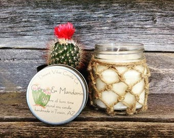 Macrame Soy Candle,  8 oz. Mason Jar Candle, Soy Candles Handmade, Desert Vibes, Rustic Candle, Natural Soy Candle, Joanna Gaines Decor