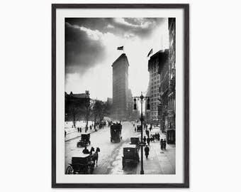 The Flatiron, Madison Square, New York, 1916 - Vintage Photo Art Print