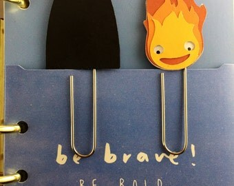 Paper clips Calcifer and faceless