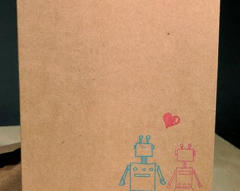 He loves Her! - Robot Love single card - A2 - Blank card