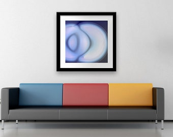 Blue fine art print, Decoration wall art, Wall decor print art, Hahnemühle Paper, Colorful painting print,  Limited edition fine art, Giclee