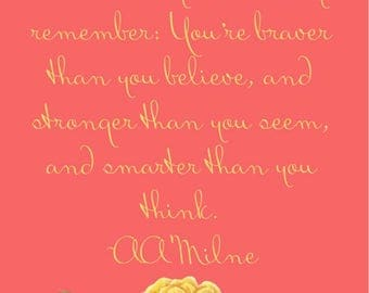 AA Milne Quote *INSTANT DOWNLOAD*