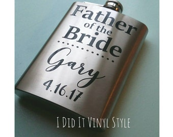 Father of Bride Gifts. Father of Bride Flasks. Wedding Party Gifts. Wedding Gifts. Wedding Favors. Gifts for Father of Bride.