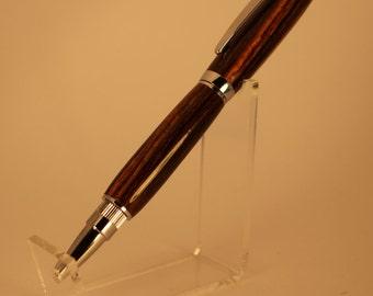 Bocote Wood Graduate Chrome Twist Pen