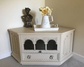 Shabby Chic TV Cabinet, Now Sold !!Entertainment Unit, TV Stand, French Vintage Cabinet, Painted Furniture .