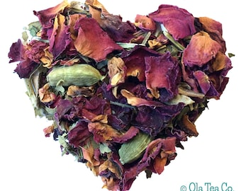 EXOTIC ROSE TEA. Organic herbal tea. Loose Leaf tea. 2oz kraft bag.