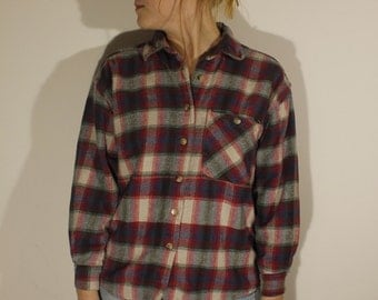 Vintage Plad Flannel Button Up