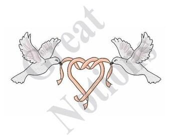 Wedding Doves - Machine Embroidery Design