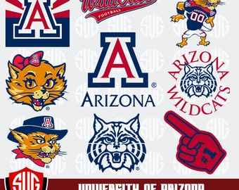 University of Arizona monogram svg,Arizona Silhouette Studio, Arizona University Cricut, Screen Printing, Cameo, Logo_19