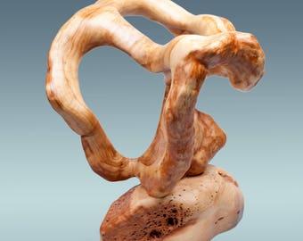 Modern statue, wood carving, wood sculpture, modern carving, abstract sculpture, sculpture wood, modern wood decor, wood home decor