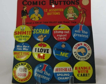 Collectable Comic Buttons