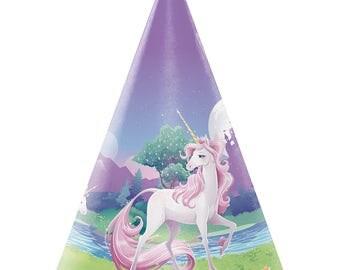Pastel Unicorn Paper Party Hats/ Unicorn Party Hats/ Unicorn Party Supplies/ Unicorn Hats