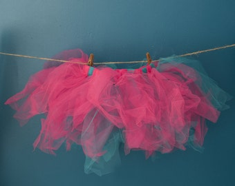 Pink and Teal Wild and Crazy Child's Tutu