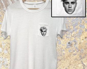 Justin Bieber Shirt - Pocket Tee - Justin Bieber - Purpose Tour - Bieber Purpose Tour - Bieber T Shirt - Purpose Tour Merch - Bieber T Shirt