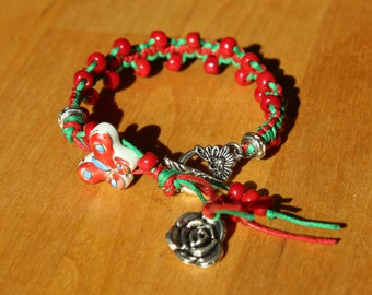 Fairy friend - Shamballa, macrame bracelet