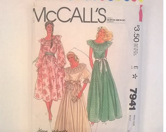 Vintage McCall's Bridal Gown or Bridesmaid Dress Pattern 7941 - Size 8, Bust 31 1/2 - Uncut Pattern