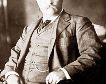 "1910 President Theodore Roosevelt Vintage Photograph 8.5"" x 11"""
