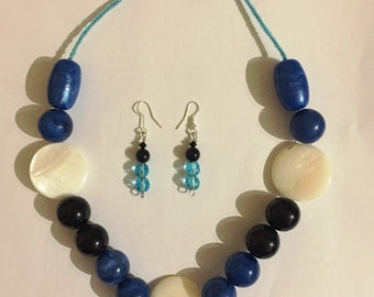 Big bead necklace set