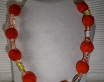 Felt bracelet dream in Orange