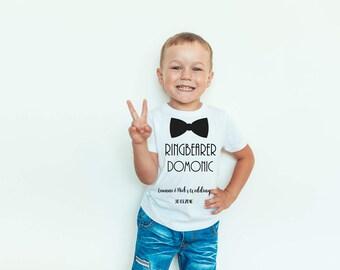 Ring bearer T Shirt, Kids Wedding T Shirt, Kids T Shirt, Children's T shirt, Baby T Shirt, Boys Clothing, Personalised T Shirt