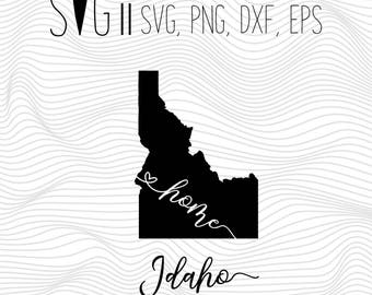 Idaho Home Svg, State Svg, Font Svg Files For Silhouette For Cricut, SVG EPS PNG Dxf Vector Cutting Files Vinyl Decal, Monogram Svg