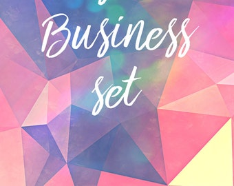 Custom Business graphics set