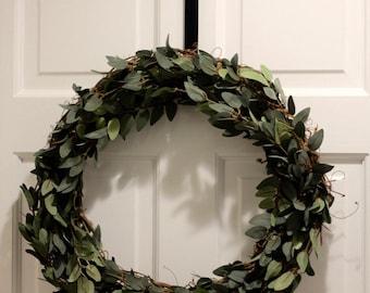 Simple Greenery Wreath | Greenery Wreath | Farmhouse Decor | Year Round Wreath | Rustic Wreath | Housewarming Gift