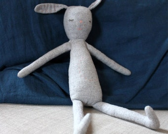 Bunny Friend - Gender Neutral Doll - Dressable Bunny - Handmade Doll