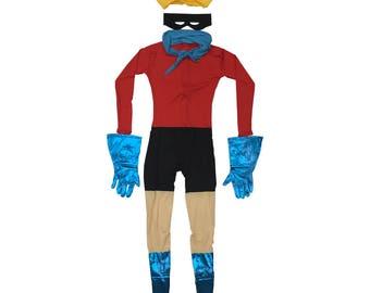 Barnacle Boy Costume SpongeBob SquarePants Cosplay Spandex SpongeBob SquarePants TV Show Superhero Fancy Dress Halloween Suit High Quality