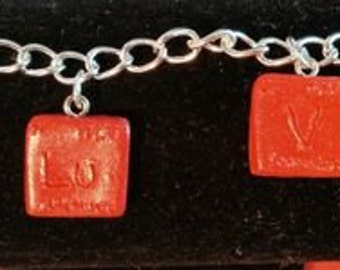 """Periodic Table of Elements """"I Love You"""" Charm Bracelet"""