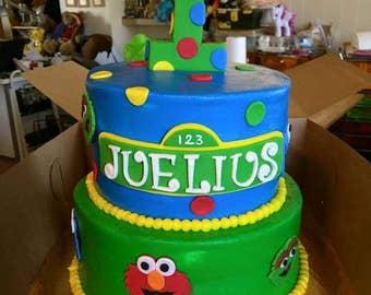 Seasame Street Cake Topper (set of 6)