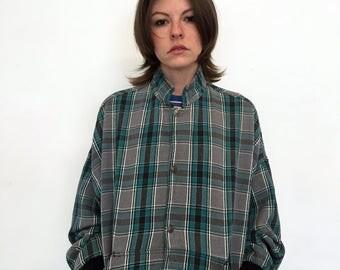 NO FEAR Vintage 90s Plaid Jacket