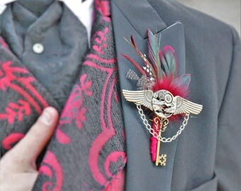 Groom Boutonniere / Groomsmen /for Pilot Air Force