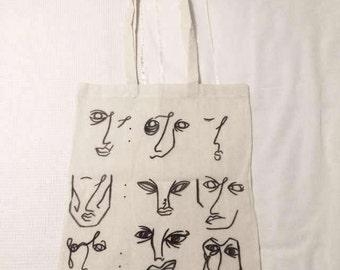 Off white cotton tote bag