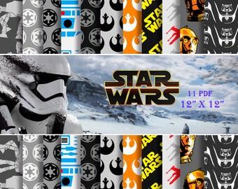 95% Off SALE Star Wars Digital Paper Pack --- OFFER