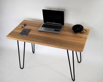 Desk, Computer desk, Office desk, Modern desk, Wood desk, Hairpin legs desk, Side table, Oak table, Office furniture