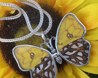 Sun Butterfly COLLECTION Earrings and Necklace al made in Pure Silver