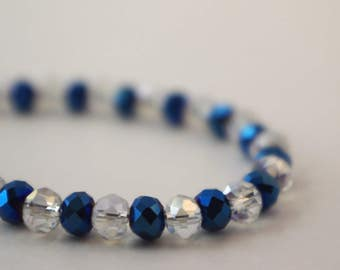 Blue and Clear Baby Bracelet