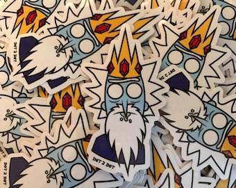 Ice King Rick Sanchez Sticker