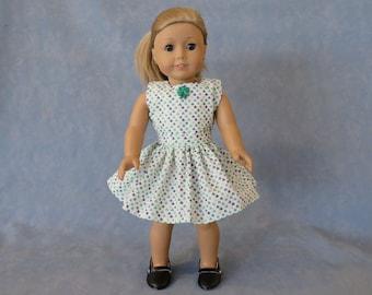 "Sleeveless Shamrock St. Patrick's Day 18"" Doll Dress - Dark Green Shamrock"