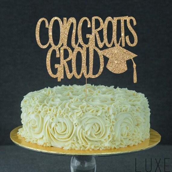 Graduation Cake Topper Congrats Grad 2017 Cake Topper for