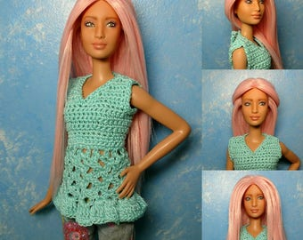 Libby - OOAK Repainted & Rerooted 1/6 scale, 12 inch fashion doll