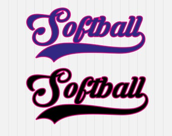 Softball SVG Cut File Softball swoosh svg  - svg, dxf, eps, png, Pdf - Download - Cut File, Clipart - Cricut Explorer - Silhouette Cameo
