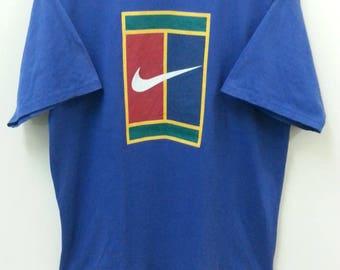 Vintage NIKE//Tennis Swoosh Challenge Court//Size L//Agassi