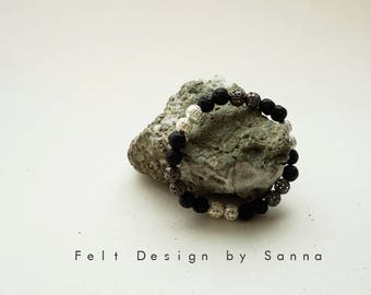 Lava Bracelet - Icelandic Jewelry - Lava Jewelry - Iceland Bracelet - Icelandic Design - Black Bracelet - Silver Bracelet - Iceland Souvenir